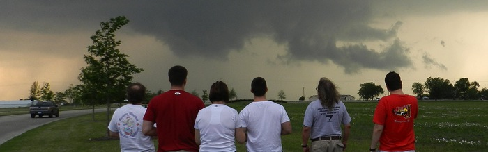 AllisonHouse Members in Front of a Developing Tornado